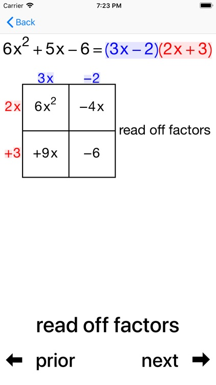 Quadratic Factoring screenshot-6
