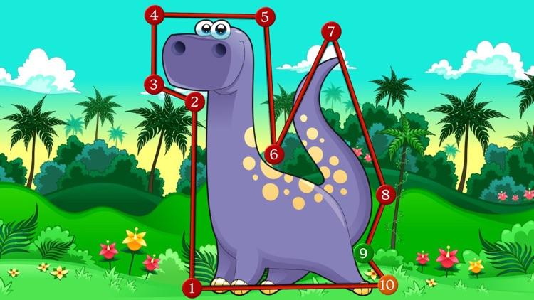Dinosaur Dots Connect for kids screenshot-3