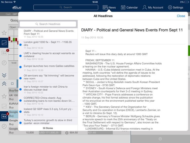FXFlat MobileTrader for iPad screenshot-3