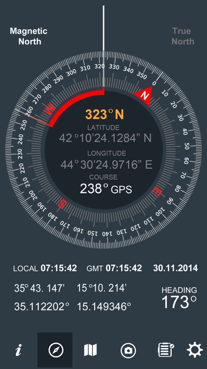 Trip Pages (Compass,Altimeter)
