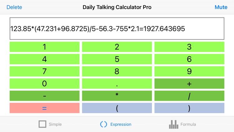 Daily Talking Calculator Pro screenshot-7