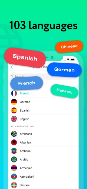 Mate – tradutor e dicionário Screenshot