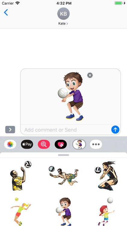 Volleyball Stickers Pack screenshot-4