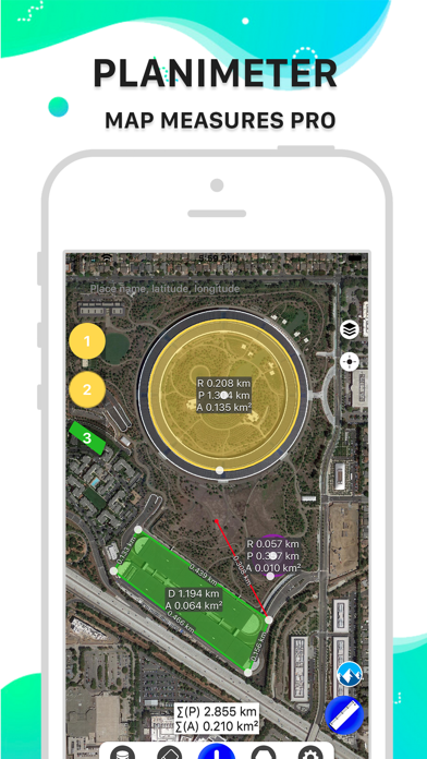 Planimeter. Screenshots
