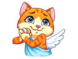Cupid Cat Love Stickers