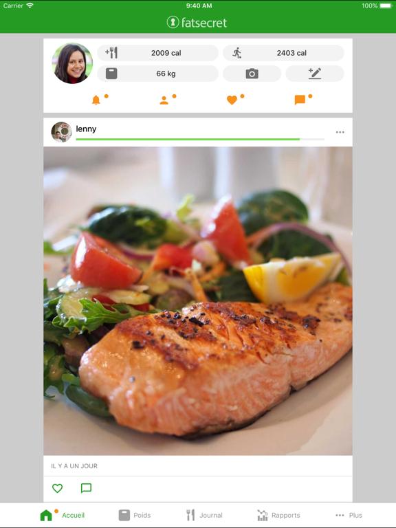 Screenshot #5 pour Compteur de Calories FatSecret