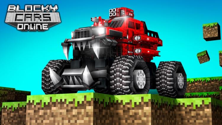 Blocky Cars - pixel shooter screenshot-0