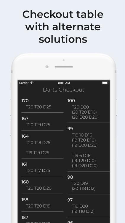 Darts Checkout screenshot-5
