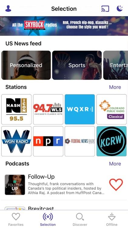 Radioline live radio & podcast screenshot-0