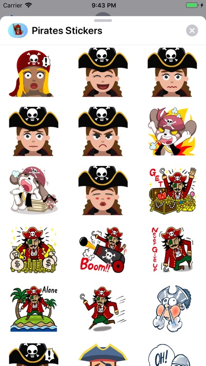 Pirates Emoji Stickers