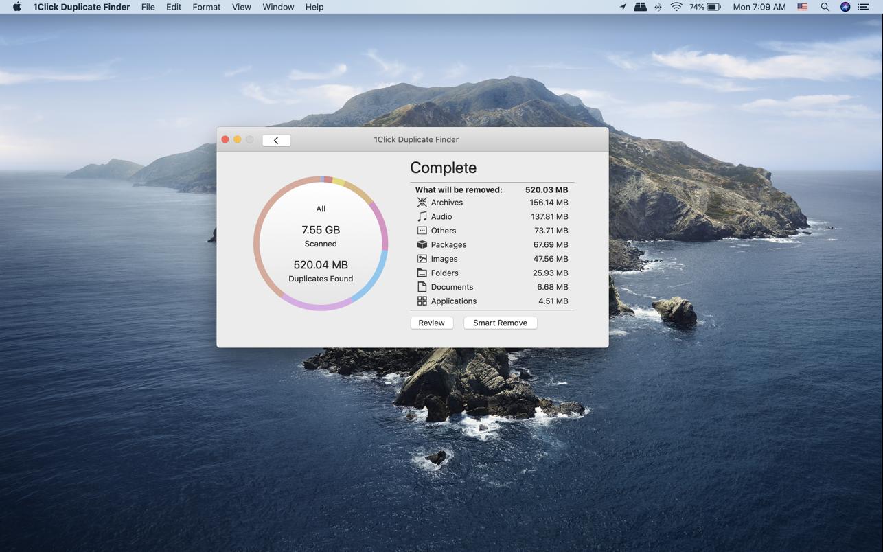 1Click Duplicate Finder 2.1 Mac 破解版 重复文件一键清理软件