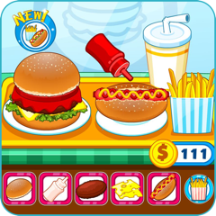 Resto burger fast-food