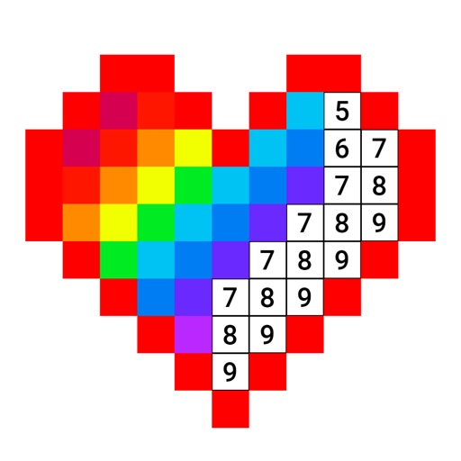 Draw Color Numbers iOS App