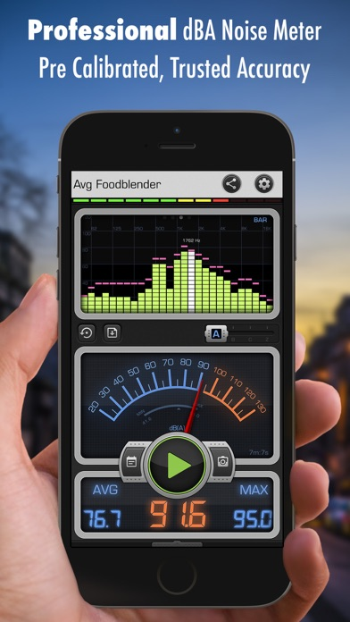 Decibel X: dB, dBA Noise Meter Screenshot
