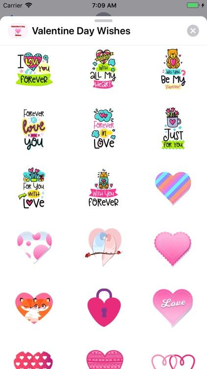 Valentine Day Wishes Stickers screenshot-4