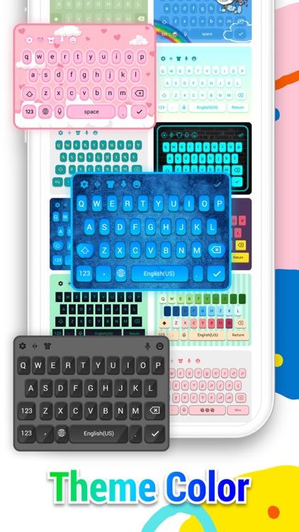 Keyboard Themes - Color, Font screenshot-3