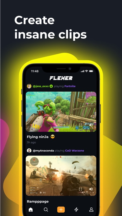 FLEXER: gaming clips, chat