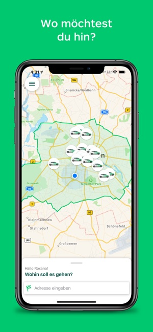 CleverShuttle: Ridepooling App Screenshot