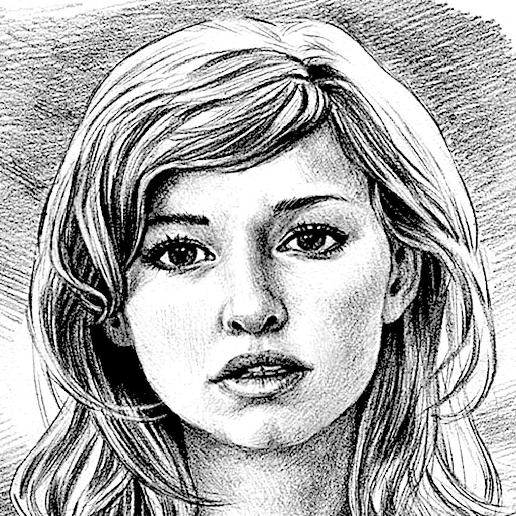 Pencil sketch image editor