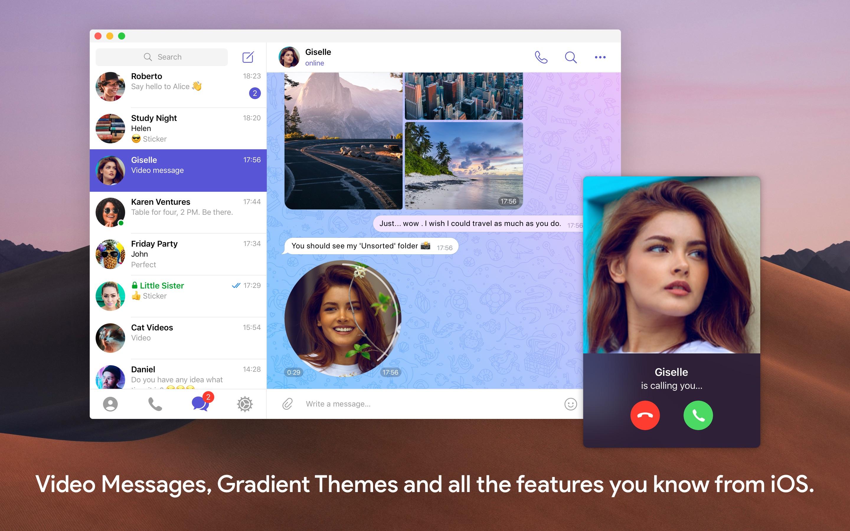 Screenshot do app Telegram