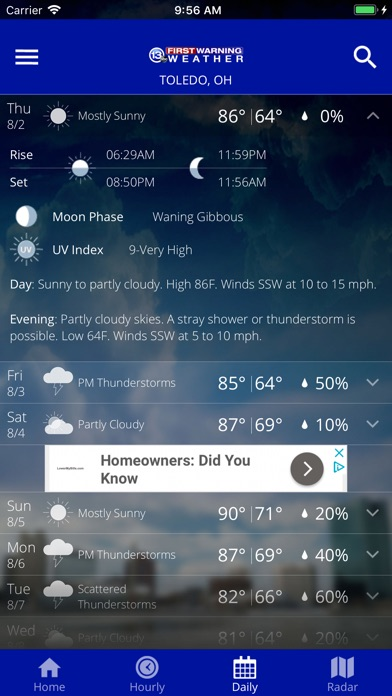 Screenshot for 13abc First Warning Weather in United States App Store
