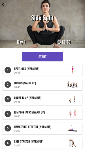 30 Day Splits Challenge on the App Store