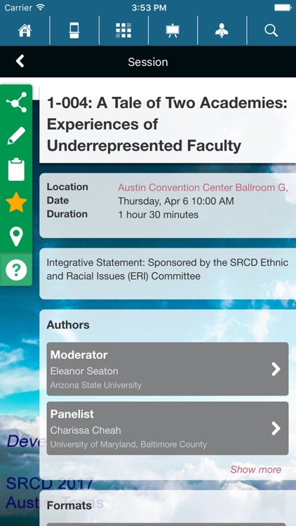 SRCD Events screenshot-2