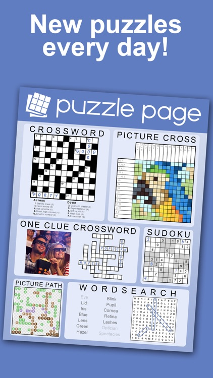 Puzzle Page - Daily Puzzles! screenshot-0