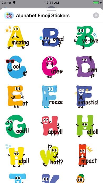 Alphabet Emoji Stickers app image