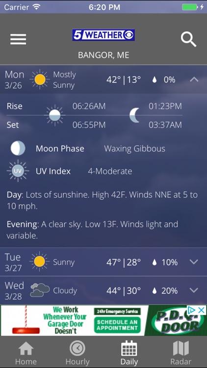 WABI TV5 Weather App screenshot-3