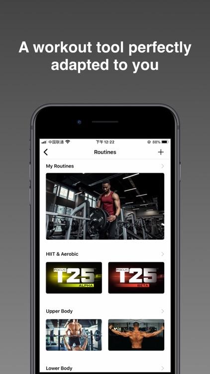 FitPal - Gym & Home Workout screenshot-0