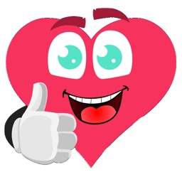 Thumbs Up Heart Stickers