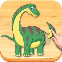 Dinosaurios puzzle, completo