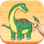 Dinosaures Puzzle, jeu complet