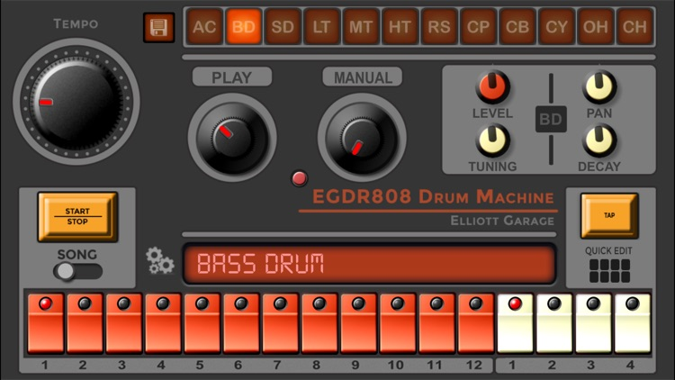 EGDR808 Drum Machine HD