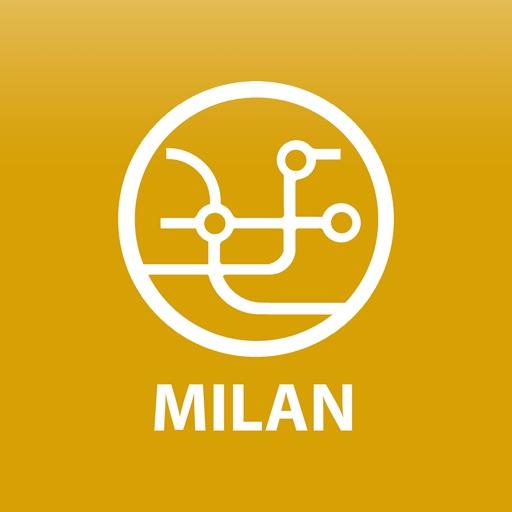 Public transport map Milan