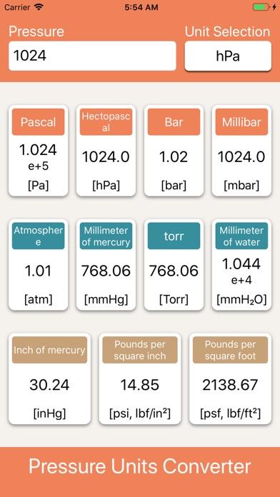 Screenshot for Pressure Units Converter in France App Store