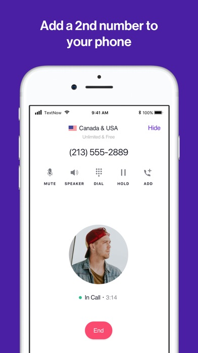 Screenshot for TextNow: Call + Text Unlimited in United States App Store