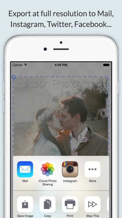 iWatermark+ Logo Photo & Video screenshot-3