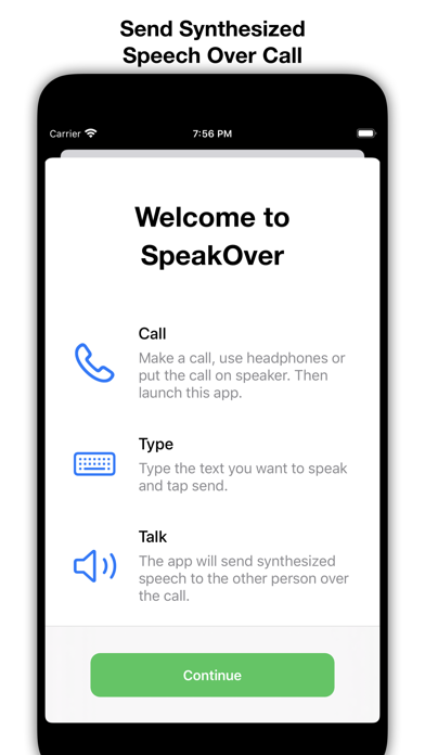 SpeakOver screenshot 1
