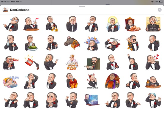 Business Style Funny Stickers screenshot 4