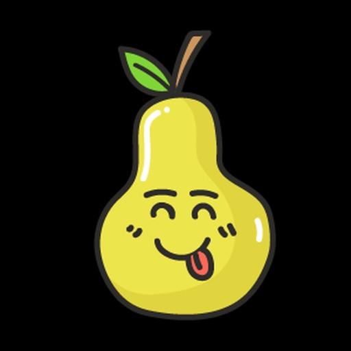 Papaya Amused Sticker