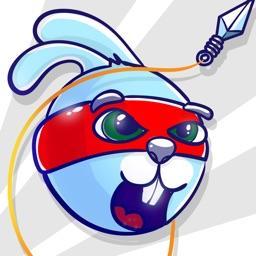 Swing Rope Rabbit hero game
