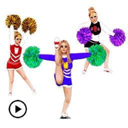 Animated Happy Cheerleader