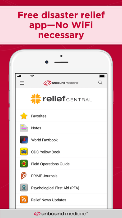 Relief Central review screenshots