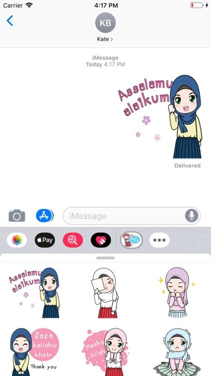 Cute Hijab Stickers Pack screenshot-4