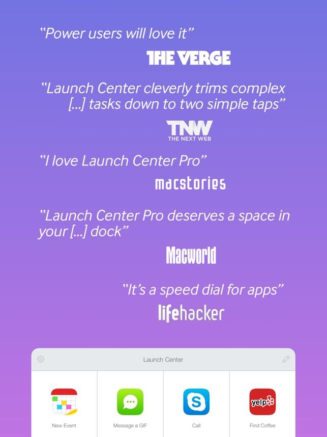 Launch Center Pro Capture d'écran
