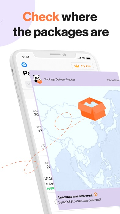 Package Delivery Tracker App Screenshot