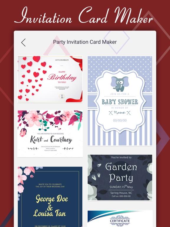 Party Invite Card Maker App Price Drops