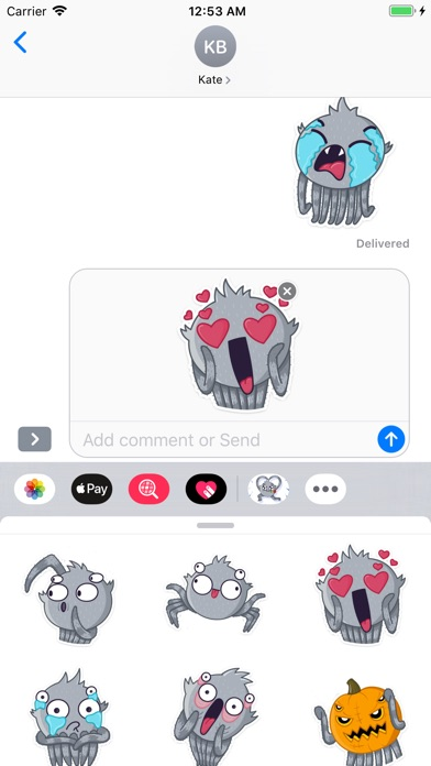 Cute Spider Emoji Stickers app image